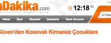 Nalan Güven'den Kosovalı Kimsesiz Çocuklara Destek